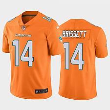 Buy Men's Miami Dolphins Jacoby Brissett Color Rush Orange Jersey