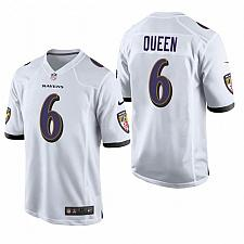 Buy Men's Baltimore Ravens Patrick Queen White Limited Jersey