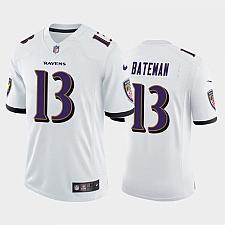 Buy Men's Baltimore Ravens Rashod Bateman White 2021 Draft Jersey