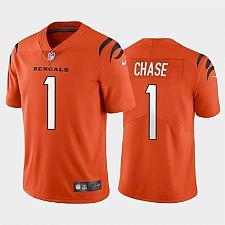Buy Men's Cincinnati Bengals #1 Ja'Marr Chase Orange 2021 Draft Jersey