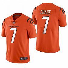 Buy Men's Cincinnati Bengals Ja'Marr Chase Orange 2021 Draft Jersey
