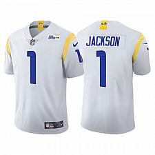 Buy Men's Los Angeles Rams #1 DeSean Jackson Jersey White 2021 Alternate Limited
