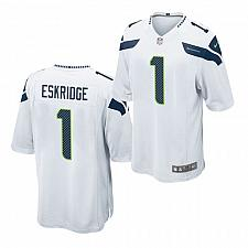 Buy Men's Seattle Seahawks #1 D'Wayne Eskridge Jersey White 2021 Game Football