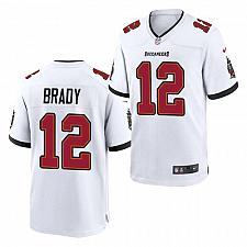 Buy Men's Tampa Bay Buccaneers #12 Tom Brady Jersey White 2021 Game Football