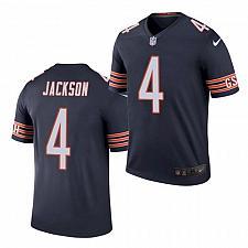 Buy Men's Chicago Bears #4 Eddie Jackson Jersey Navy Blue 2021 Color Rush Legend