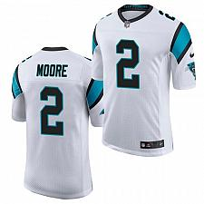 Buy Men's Carolina Panthers #2 D.J. Moore Jersey White 2021 Limited Football