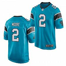 Buy Men's Carolina Panthers #2 D.J. Moore Jersey Blue 2021 Game Football