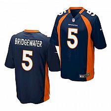 Buy Men's Denver Broncos #5 Teddy Bridgewater Jersey Navy 2021 Game Football