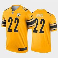 Buy Men's Pittsburgh Steelers #22 Najee Harris Jersey Gold 2021 Legend Football