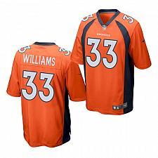 Buy Men's Denver Broncos #33 Javonte Williams Jersey Orange 2021 Game Football