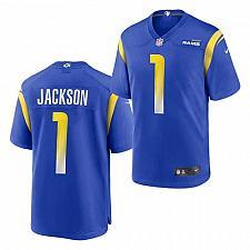 Buy Men's Los Angeles Rams #1 DeSean Jackson Jersey Royal 2021 Game Football