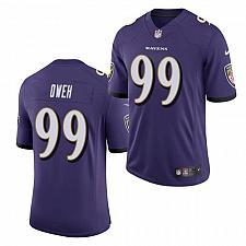 Buy Men's Baltimore Ravens #99 Jayson Oweh Jersey Purple 2021 Limited Football