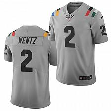 Buy Men's Indianapolis Colts #2 Carson Wentz Jersey Grey 2021 City Limited