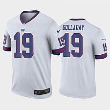 Buy Men's New York Giants #19 Kenny Golladay Jersey White 2021 Color Rush Legend