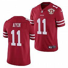Buy Men's San Francisco 49ers Brandon Aiyuk Jersey Scarlet 75th Season Limited
