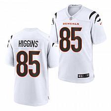 Buy Men's Cincinnati Bengals #85 Tee Higgins Jersey White 2021 Game Football