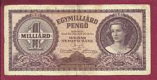 Buy Hungary 1 Milliard 6 Banknote 084722 - #P-125 Note - Woman at right