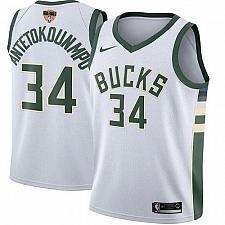 Buy Men Milwaukee Bucks #34 Giannis Antetokounmpo Jersey White 2021 Finals
