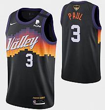 Buy Men Phoenix Suns #3 Chris Paul Jersey Black City Edition 2021 Finals