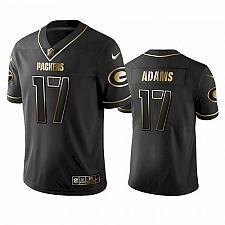 Buy Men's Green Bay Packers #17 Davante Adams Black Golden Jersey