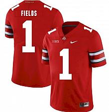 Buy Men's Ohio State Buckeyes College #1 Justin Fields Red NCAA Jersey