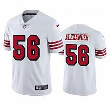 Buy Men's San Francisco 49ers #56 Kwon Alexander Color Rush White Jersey