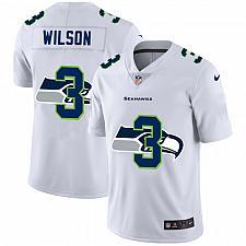 Buy Men's Seattle Seahawks #3 Russell Wilson White Shadow Logo Jersey
