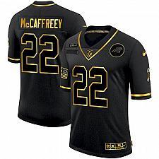 Buy Men's Panthers Christian McCaffrey 2020 Salute To Service Gold Jersey
