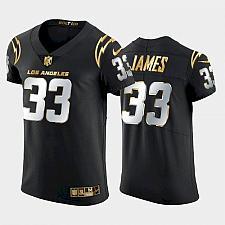Buy Men's Los Angeles Chargers Derwin James 2021 Black Golden Elite Jersey
