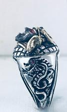 Buy 10k Samurai Artisan Made sterling silver Dragon ring