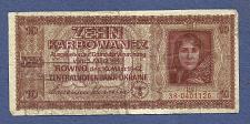 "Buy URAINE 10 Karbowanez 1942 Banknote 38*0401126 Pick#52""Farmers Wife"""