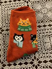 Buy Brand New Ladies Crew Socks Size 4 to 10 Christmas Cats Design For Dog Charity