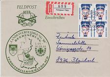 Buy GERMANY BUND [1988] MiNr 1374 4er ( Brief ) Feldpost R-Brief