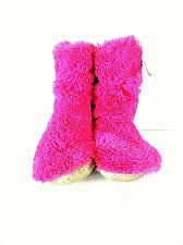 Buy Jennifer Moore Pink Faux Fur Slip On High Ankle Bootie Slippers Womens 5-6 (SW18