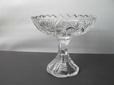 Buy American Brilliant Period Cut Glass compote, divided Antique