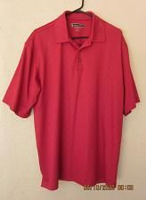 Buy Pebble Beach Performance XL Large Men's Polyester Polo Shirt Golf Solid Red