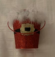 Buy Metal Miniature 4 Inch Bucket Santa Claus Christmas Theme For Dog Rescue Charity