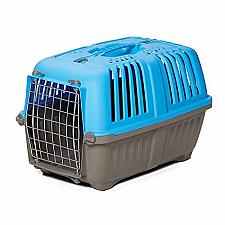 Buy Pet Carrier: Hard-Sided Dog Carrier, Cat Carrier, Small Animal Carrier in Blue,