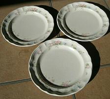 "Buy Set of 3 Pfaltzgraff ~ Tea Rose Pattern Dinner Plates 10"""