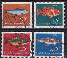 Buy GERMANY BUND [1964] MiNr 0412-15 ( O/used ) Fische