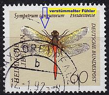 Buy GERMANY BUND [1991] MiNr 1547 F20 ( O/used ) [03] Tiere Plattenfehler