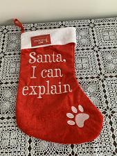 Buy Brand New Dog Christmas Stocking Santa I Can Explain Design 4 Dog Rescue Charity