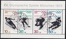 Buy GERMANY BUND [1971] MiNr 0684-87 Block 6 ( Sonder-O/used ) Olympiade