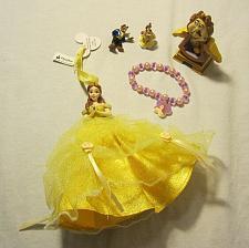 Buy Disney Beauty & the Beast Lot - Cogsworth Clock - Figures - Doll - Bracelet
