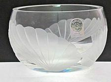 Buy Signed Lenox Cut glass Fanlight bowl Crystal Made in USA Limited collection