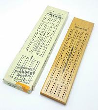 Buy Toys R US Cribbage Board 2 Track Hardwood Metal Pegs No.230464 Vintage 1970's