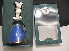 Buy Lenox Disney Crystal bell Santa 1997 Made in USA gold band
