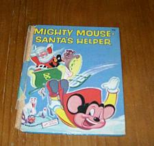 Buy Vintage 1955 Wonder Book Mighty Mouse Santas Helper For Dog Rescue Charity