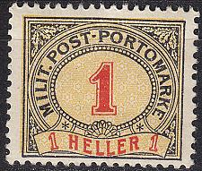 Buy ÖSTERREICH AUSTRIA [BosHerz Porto] MiNr 0001 C ( */mh )