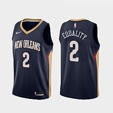Buy Men's Pelicans #2 Lonzo Ball Equality Navy Jersey